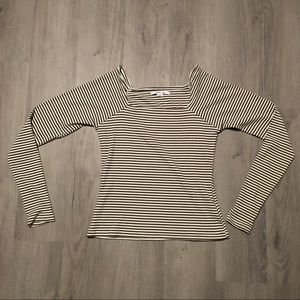 O'Neill Square collar green and white long sleeve